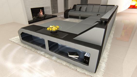 xxl leder wohnlandschaft matera led kaufen bei pmr handelsgesellschaft mbh. Black Bedroom Furniture Sets. Home Design Ideas