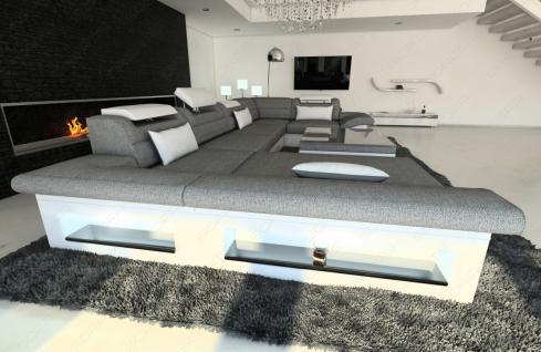 stoff wohnlandschaft enzo u form grau kaufen bei pmr handelsgesellschaft mbh. Black Bedroom Furniture Sets. Home Design Ideas