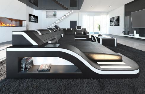 design wohnlandschaft palermo u form mit led kaufen bei pmr handelsgesellschaft mbh. Black Bedroom Furniture Sets. Home Design Ideas