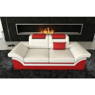 2 Sitzer Leder Sofa MONZA LED