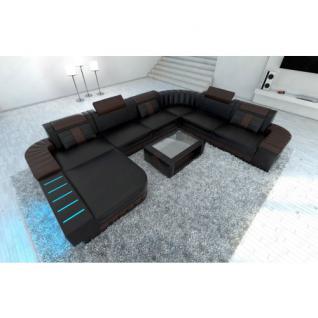 design wohnlandschaft bellagio xxl mit led beleuchtung. Black Bedroom Furniture Sets. Home Design Ideas
