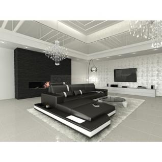ledersofa messana l form schwarz weiss kaufen bei pmr. Black Bedroom Furniture Sets. Home Design Ideas