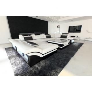 Luxus Wohnlandschaft Enzo LED weiss schwarz