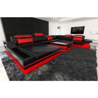 Leder couch ecksofa sofa g nstig kaufen bei yatego for Wohnlandschaft nashville