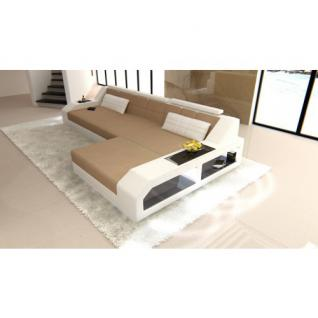 Polster Couch AREZZO LED L Form