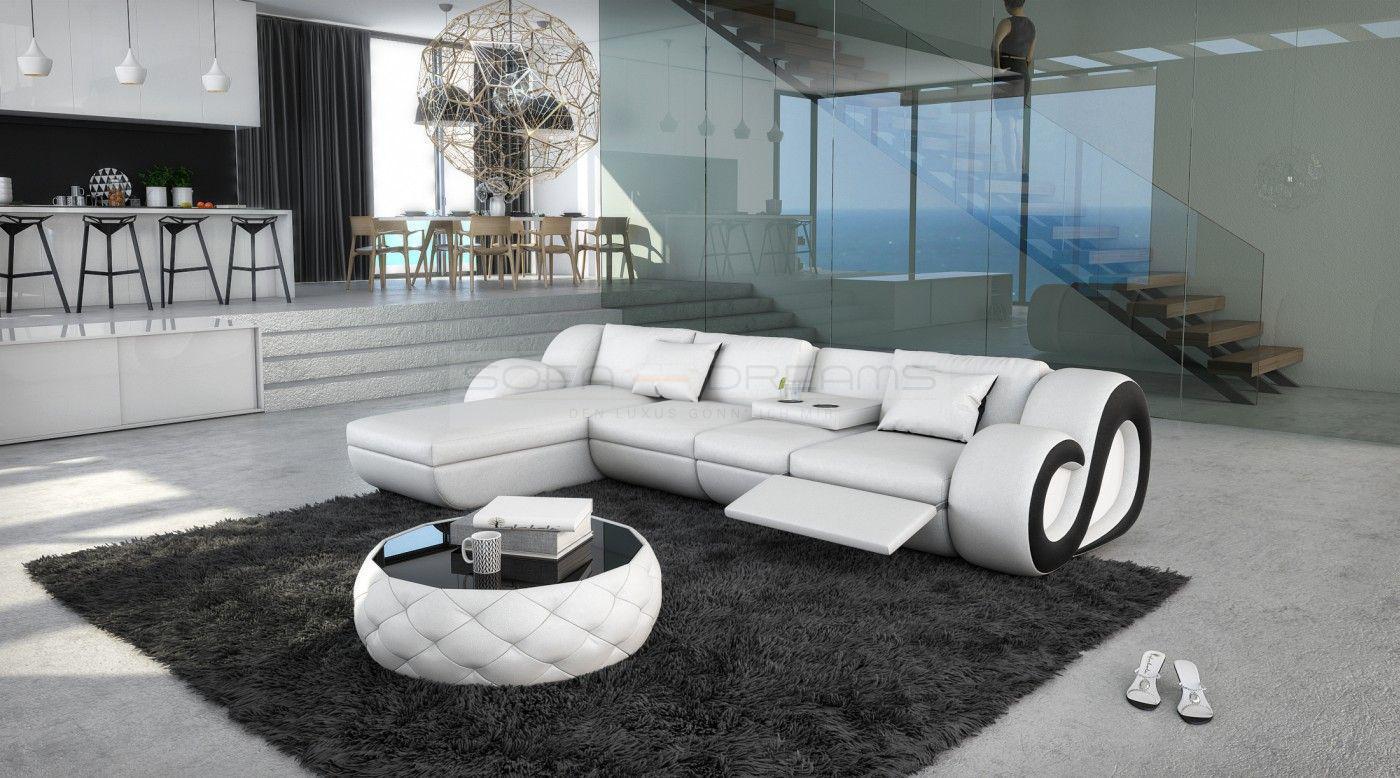 ledersofa nesta l form mit beleuchtung kaufen bei pmr. Black Bedroom Furniture Sets. Home Design Ideas