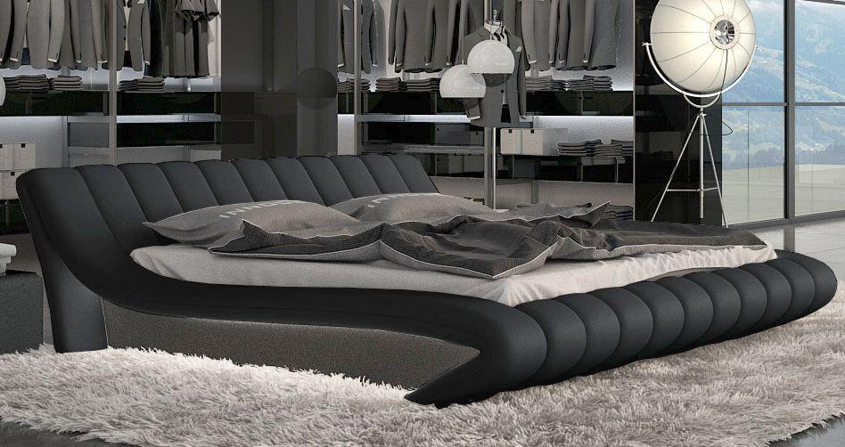 Designerbett ferrara mit led kaufen bei pmr for Bett 1 80 lang