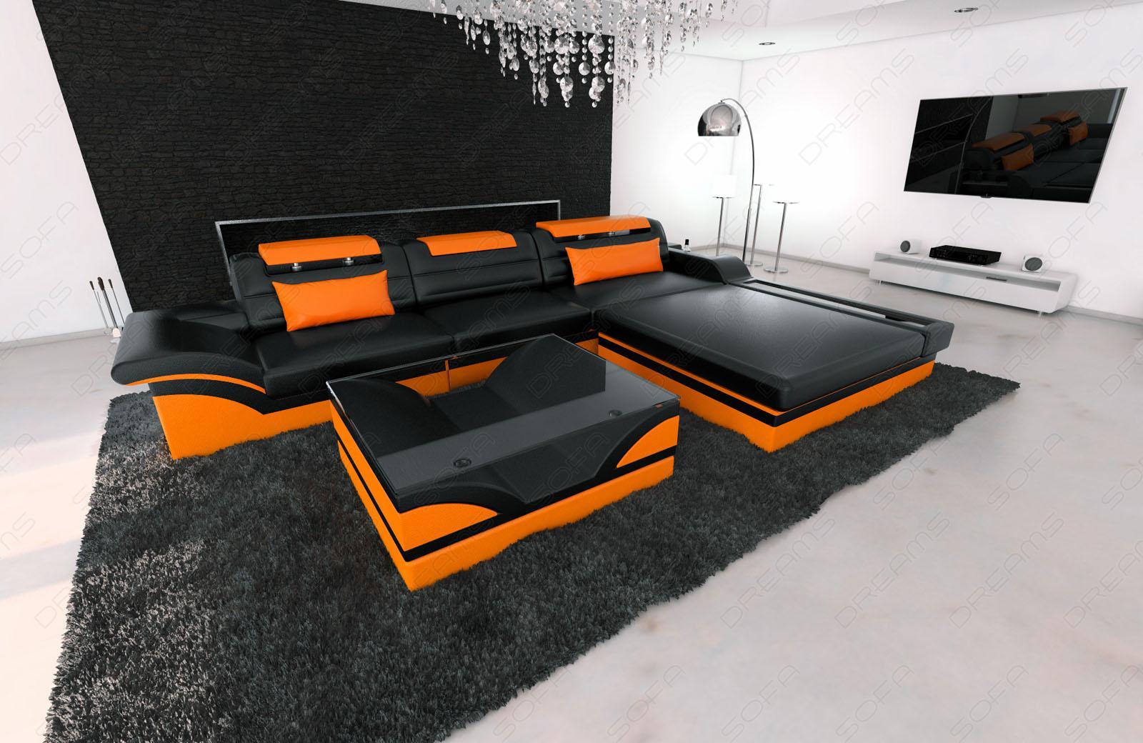 Ledercouch schwarz kaufen  Designer Ledercouch Schwarz: Jvmoebel ledersofa couch sofa ecksofa ...