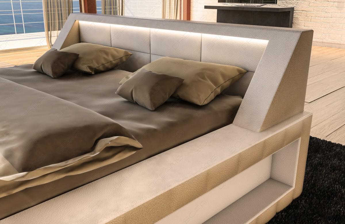 designer bett matera mit beleuchtung kaufen bei pmr. Black Bedroom Furniture Sets. Home Design Ideas