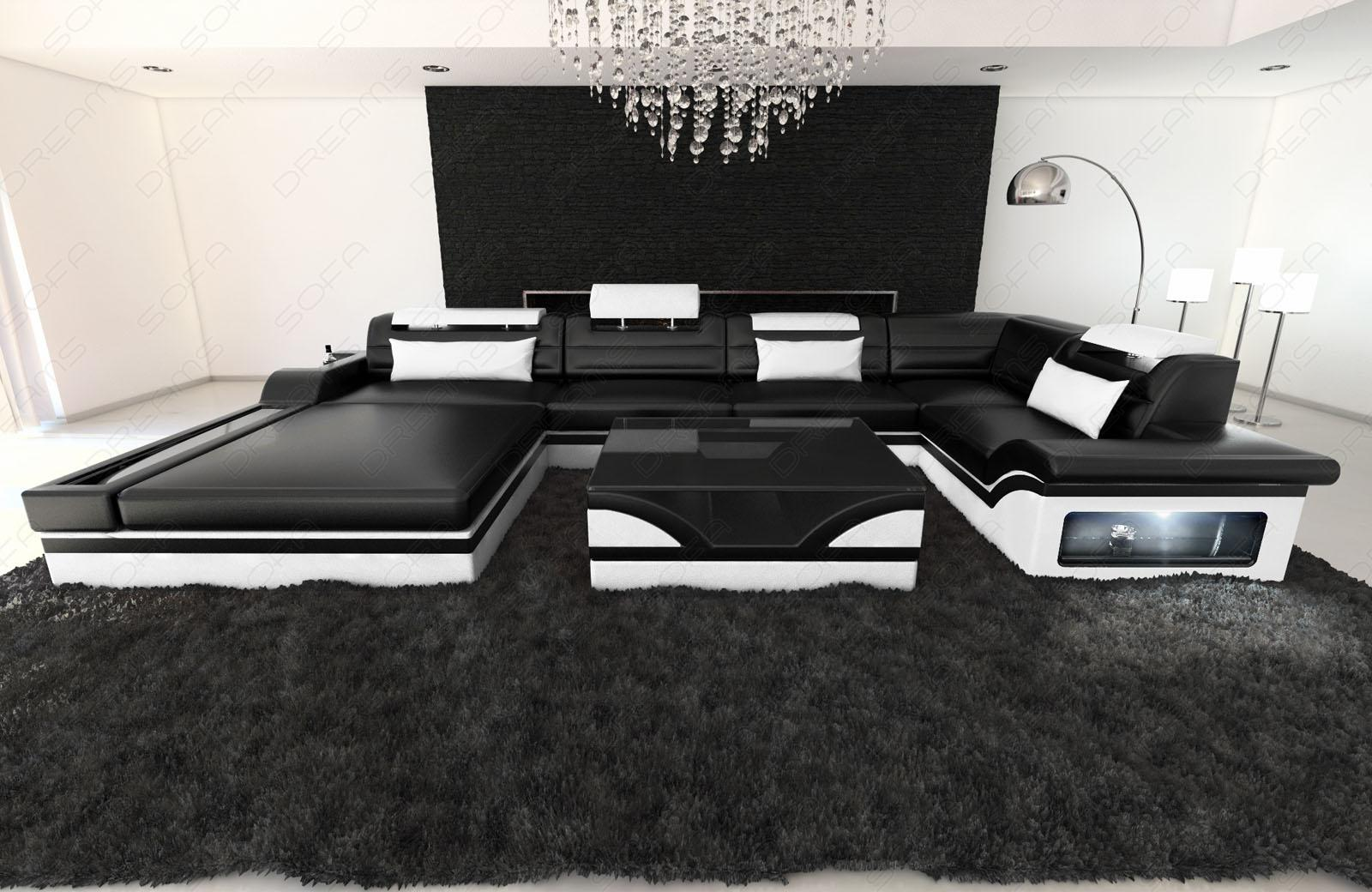 luxus wohnlandschaft mezzo mit led kaufen bei pmr handelsgesellschaft mbh. Black Bedroom Furniture Sets. Home Design Ideas