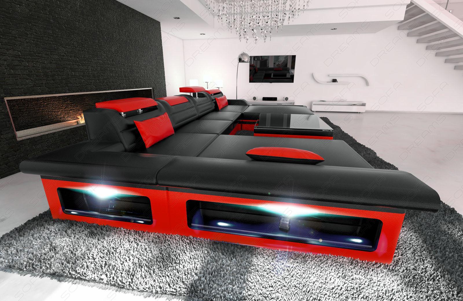 wohnlandschaft monza u form kaufen bei pmr. Black Bedroom Furniture Sets. Home Design Ideas