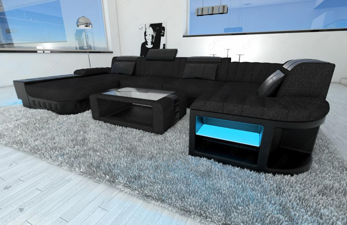 modernes polstersofa bellagio u form schwarz kaufen bei pmr handelsgesellschaft mbh. Black Bedroom Furniture Sets. Home Design Ideas