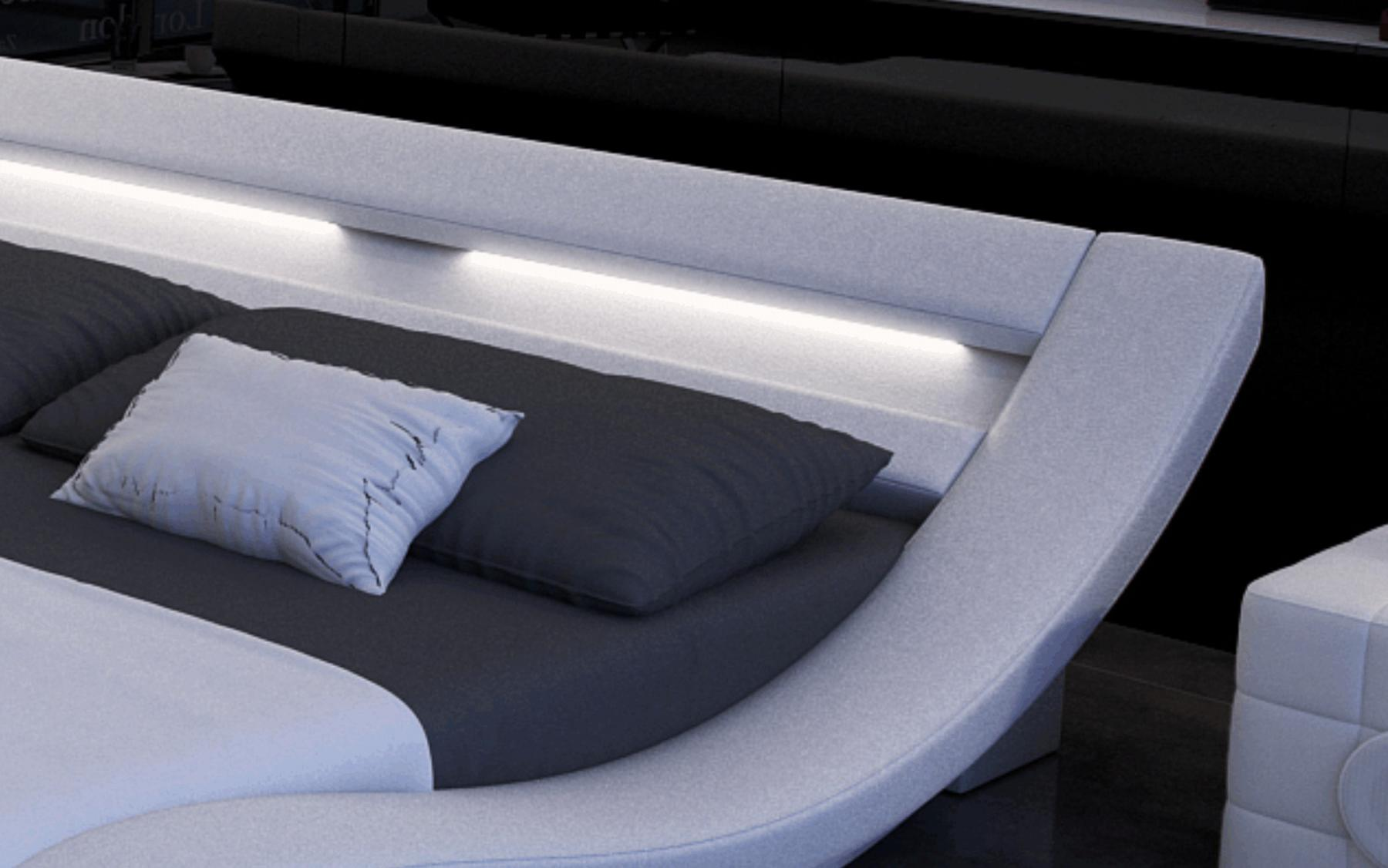 designerbett massa mit led beleuchtung kaufen bei pmr. Black Bedroom Furniture Sets. Home Design Ideas