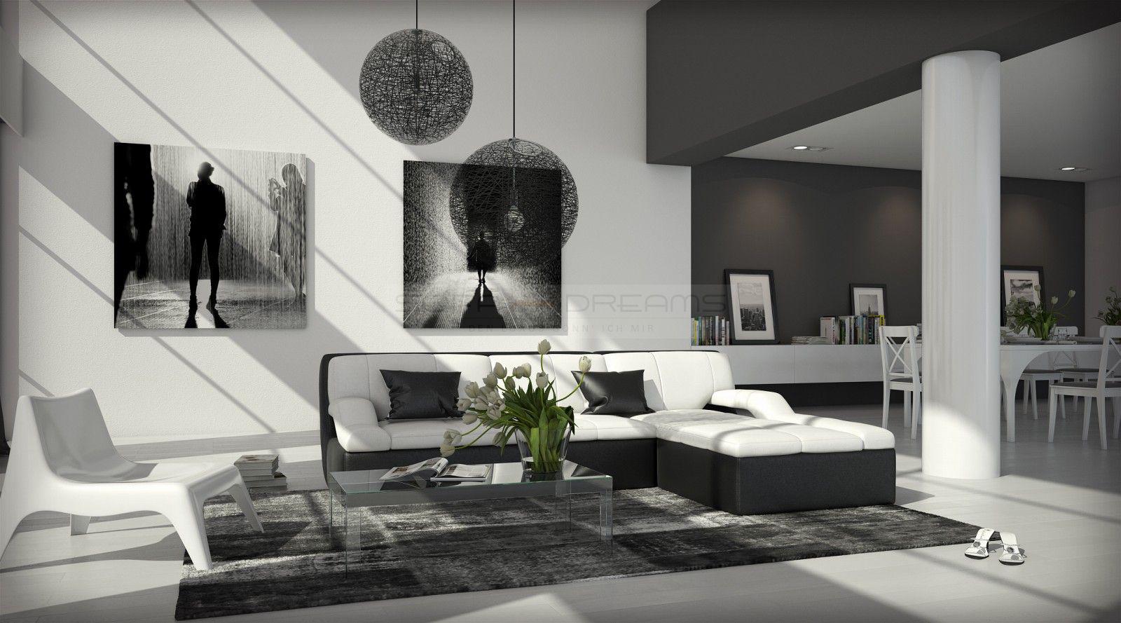 ledersofa guevara l form kaufen bei pmr. Black Bedroom Furniture Sets. Home Design Ideas