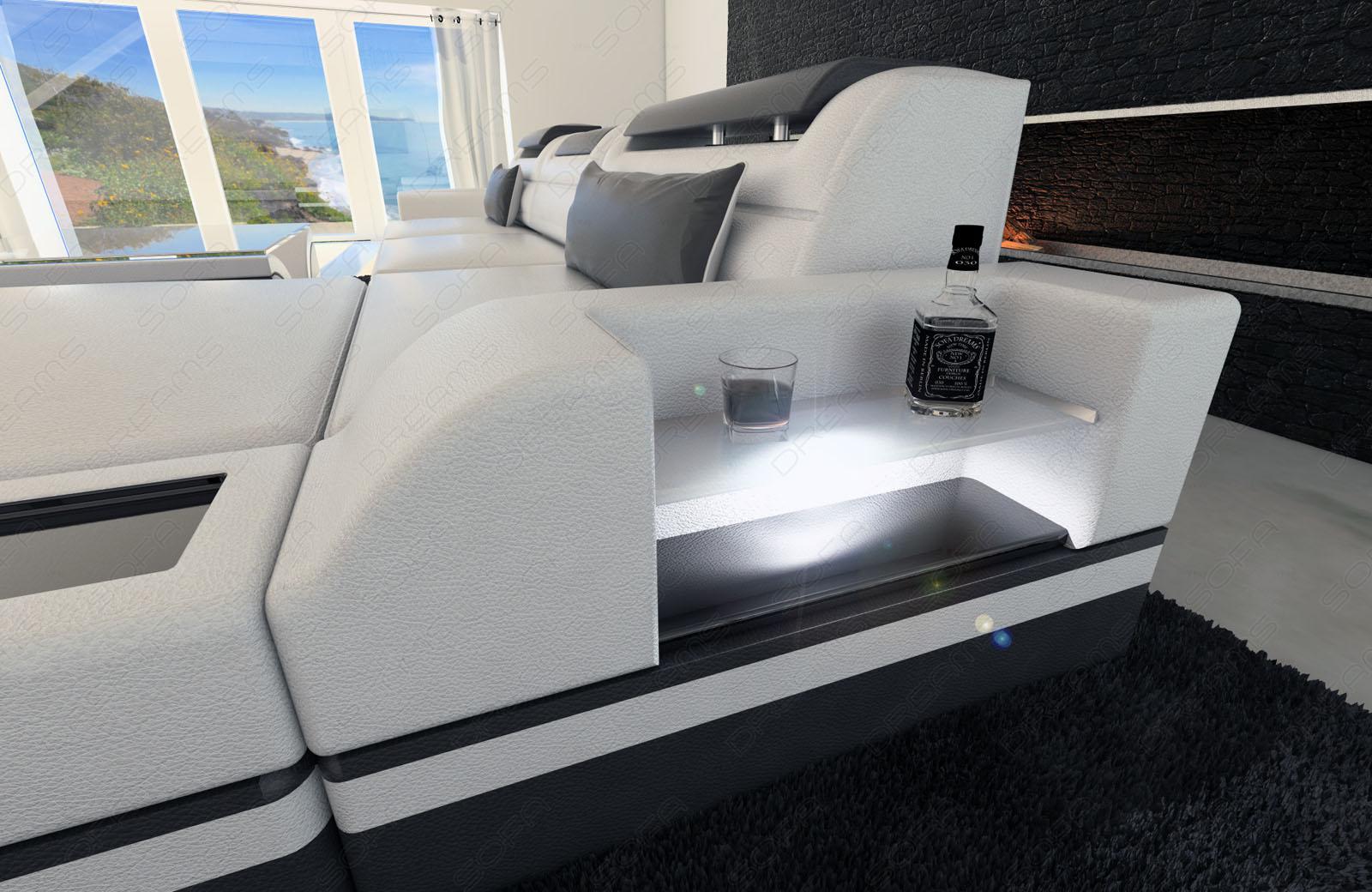 designer ledersofa parma led l form kaufen bei pmr handelsgesellschaft mbh. Black Bedroom Furniture Sets. Home Design Ideas