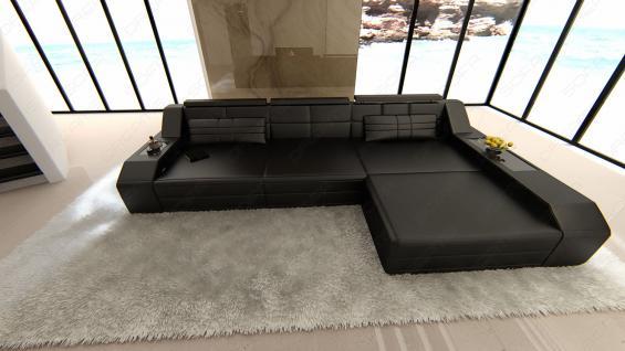 sofa arezzo l form schwarz kaufen bei pmr handelsgesellschaft mbh. Black Bedroom Furniture Sets. Home Design Ideas