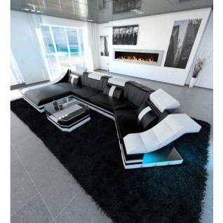luxus wohnlandschaft turino c form mit led beleuchtung. Black Bedroom Furniture Sets. Home Design Ideas