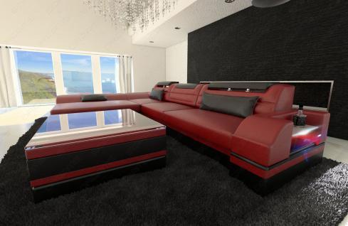 designer ledersofa monza l form kaufen bei pmr handelsgesellschaft mbh. Black Bedroom Furniture Sets. Home Design Ideas