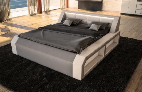 luxus boxspringbett matera mit beleuchtung kaufen bei pmr handelsgesellschaft mbh. Black Bedroom Furniture Sets. Home Design Ideas