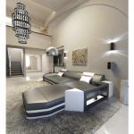 Designersofa Prato L-Form mit Beleuchtung grau weiss