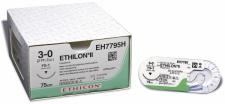 Nahtmaterial Ethilon II blau monofil 3-0. mit Nadel FS-2. 45 cm Faden (3 Dtz.) nicht resorbierbar
