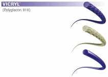 Nahtmaterial Vicryl geflochten violett 4-0. ohne Nadel. 45 cm Fadenlänge (3 Dtz.) resorbierbar