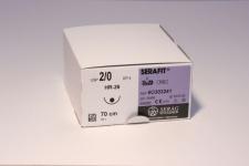 Nahtmaterial Serafit violett 5-0. mit Nadel HR-17. 70 cm Fadenlänge. resorbierbar (24 Stück)