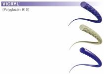 Nahtmaterial Vicryl geflochten violett 5-0. ohne Nadel. 45 cm Fadenlänge (3 Dtz.) resorbierbar
