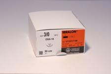 Nahtmaterial Seralon blau 4-0. mit Nadel DSS-18. 50 cm Faden. nicht resorbierbar (24 Stück)