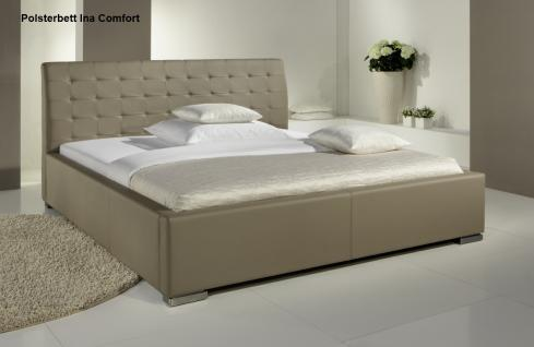 leder bett polsterbett ina lederbett weiss oder. Black Bedroom Furniture Sets. Home Design Ideas