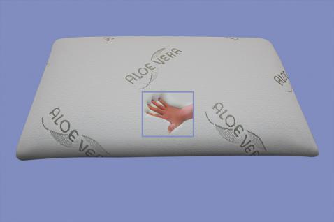 Orthopädisches Bio Gel / Gelschaum Kopfkissen / Nackenkissen / Kissen 80x40x13 cm mit 2 unterschiedlichen Seiten