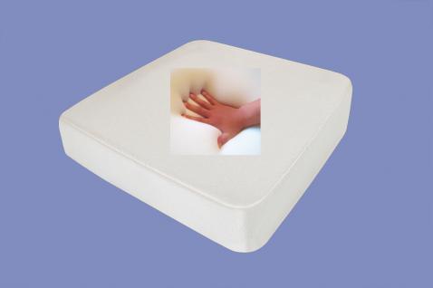 Gel / Gelschaum Inkontinenz Sitzkissen Kunstleder Bezug oder Inkontinenz Bezug für Gartenmöbel Rollstuhl Kissen 40x40x10 cm - Vorschau 1