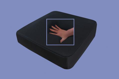 gelkissen mit geleinlage visco sitzkissen kissen schwarz gel auflage f r b rostuhl auto lkw. Black Bedroom Furniture Sets. Home Design Ideas