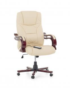 """Designer Leder Chefsessel mit Massage """"Emperor"""" beige creme weiss Massagesessel Bürosessel Sessel für Büro günstig"""
