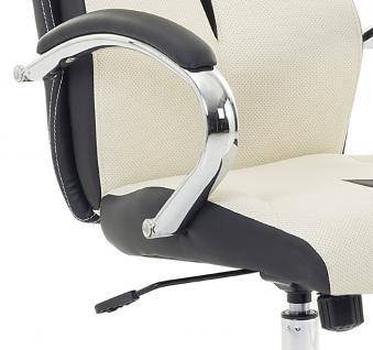 """Designer Chefsessel Bürosessel """"Formula"""" Farbe creme weiss schwarz Bürostuhl Schreibtischstuhl bequem - Vorschau 3"""
