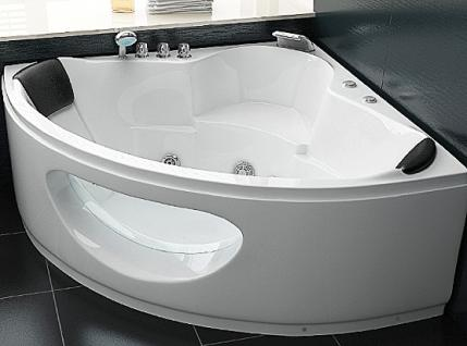 whirlpool badewanne toskana eckwanne mit 10 massage d sen beleuchtung luxus spa innen g nstig. Black Bedroom Furniture Sets. Home Design Ideas