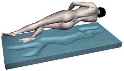 """Gelmatratze Gelbett """"Fusion"""" Höhe 22 cm, 5 cm Gel KEINE Heizung benötigt Ersatz für Wasserbett Matratze günstig"""