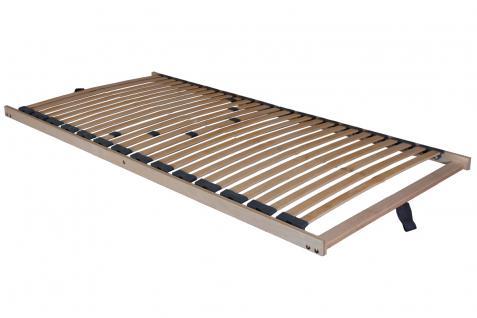 "5 Zonen Lattenrost Lattenrahmen ""Comfort"" 28 Federholzleisten + besonders niedrig nur 5 cm Höhe + Mittelgurt"