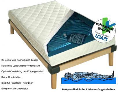 wasserbett matratze exklusiv h he 16 cm komplette wassermatratze mit beruhigung mittel oder. Black Bedroom Furniture Sets. Home Design Ideas
