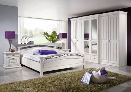Schlafzimmer Komplett Weis Holz : Massivholz Bett