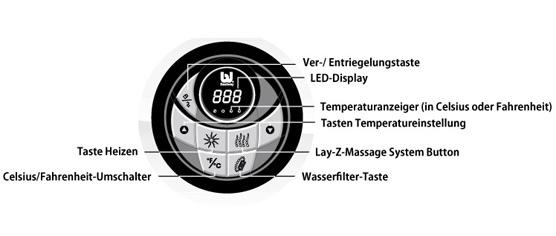 Whirlpool Hot Tub LAY-Z-SPA mit 80 Sprudelbad Düsen + Heizung + Massage outdoor außen Wellness günstig - Vorschau 3