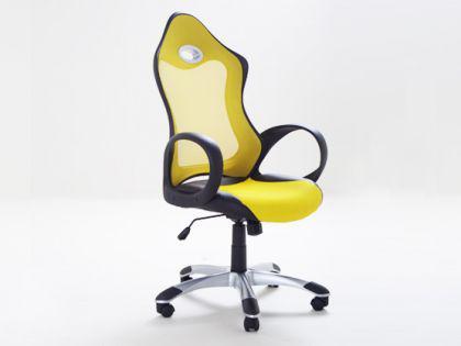 "Designer Chefsessel Bürosessel ""New Age"" Farbe blau / gelb oder grün Bürostuhl Computersessel - Vorschau 3"