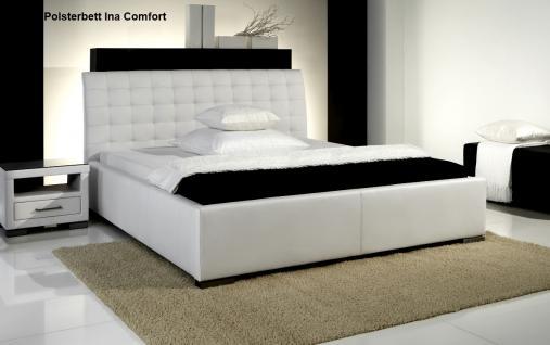 leder bett polsterbett ina lederbett weiss oder schwarz. Black Bedroom Furniture Sets. Home Design Ideas