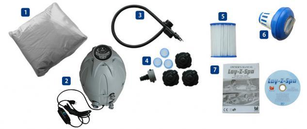 Whirlpool Hot Tub LAY-Z-SPA mit 80 Sprudelbad Düsen + Heizung + Massage outdoor außen Wellness günstig - Vorschau 4