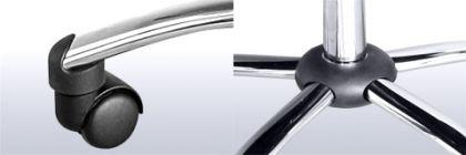 "Leder Chefsessel / Bürosessel ""Deluxe"" schwarzer Bürostuhl mit Chrom + hohe Rückenlehne günstig - Vorschau 4"