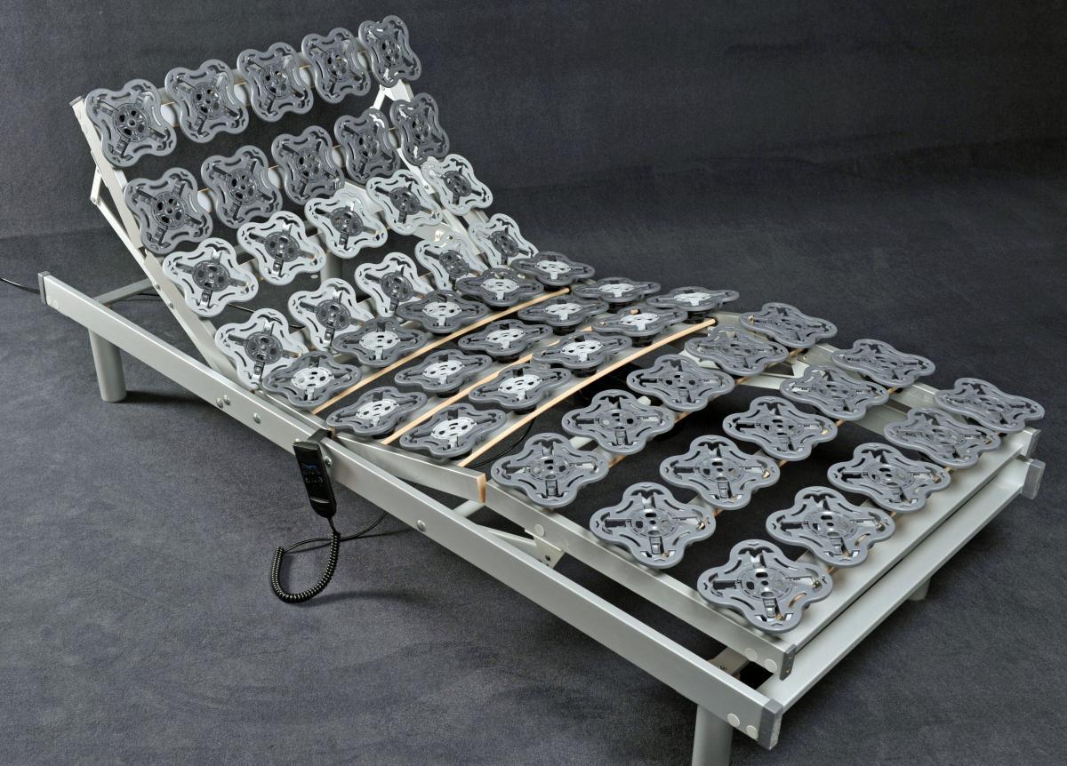 7 zonen motor teller lattenrost tellerfeder lattenrahmen star flex h rtegrad verstellbar. Black Bedroom Furniture Sets. Home Design Ideas