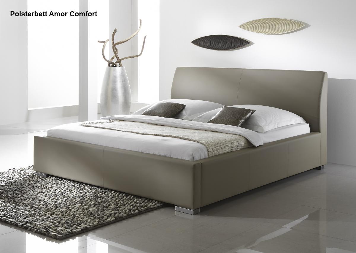 leder bett polsterbett amor lederbett braun oder beige. Black Bedroom Furniture Sets. Home Design Ideas