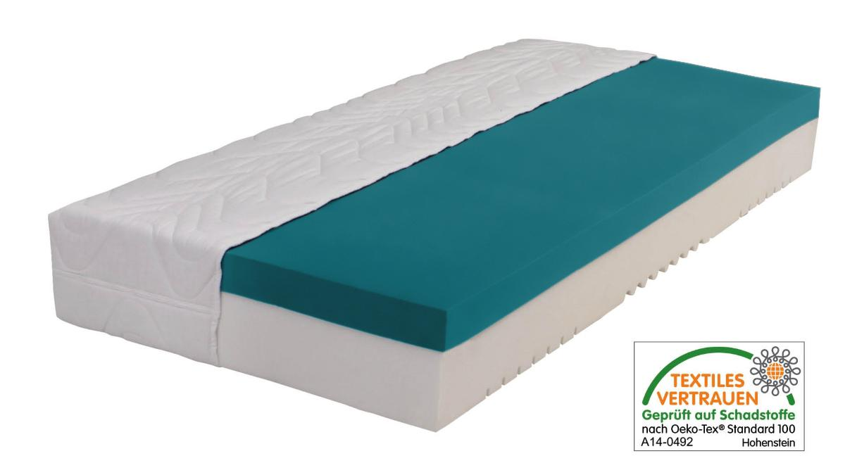 7 zonen gel gelschaum matratze relax h he 25 cm 8 cm gelschaum rg 85 g nstige alternative. Black Bedroom Furniture Sets. Home Design Ideas
