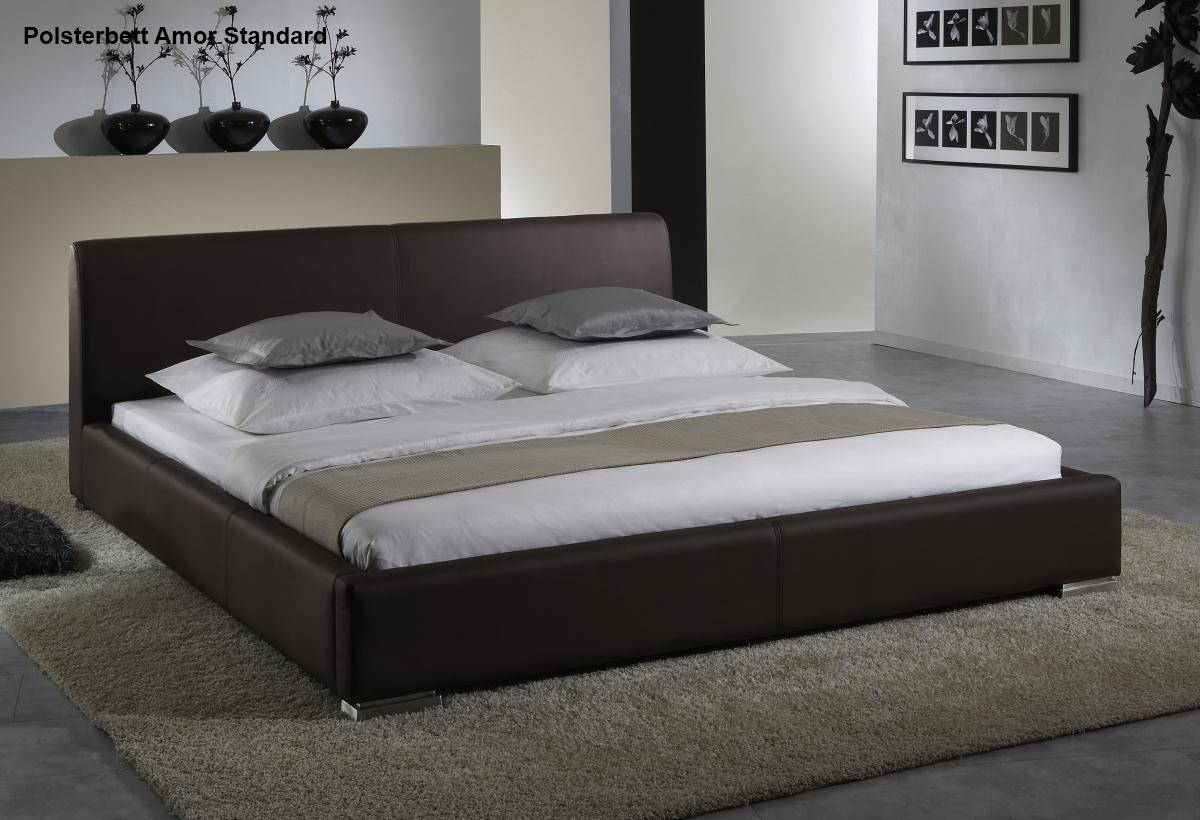 leder bett polsterbett amor lederbett braun oder beige. Black Bedroom Furniture Sets. Home Design Ideas