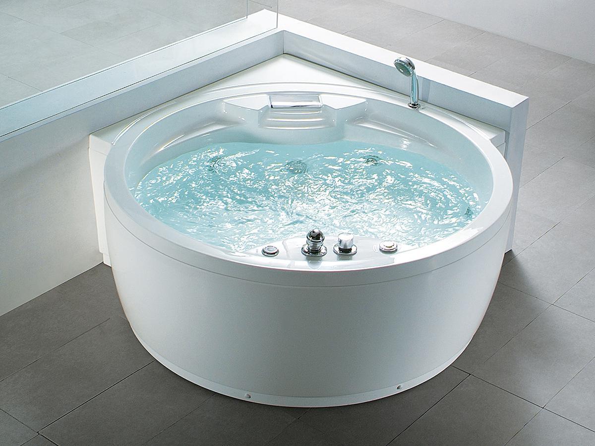 whirlpool badewanne florenz rund mit 14 massage d sen. Black Bedroom Furniture Sets. Home Design Ideas